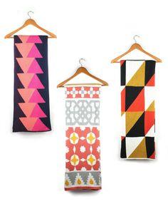 Textiles by Karrie Kaneda Textile Patterns, Textiles, Bold Colors, Attic, Kansas City, Diy Home Decor, Middle, Quilts, Blanket