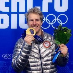 Ted Ligety sporting his 2nd Gold Medal in @#Sochi2014.