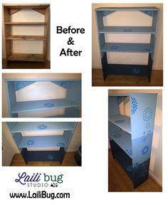 upcycled bookcase :) www.LailiBug.com