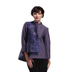 445d3d8af34b4 IC Collection Asymmetrical Floral Jacket in Purple - 1433J Purple Floral  Dress