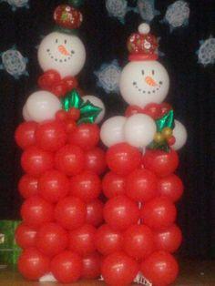 Christmas Theme Balloon Columns