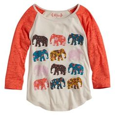mudd-burnout-raglan-elephant-top-girls- in 10-12 Kohls