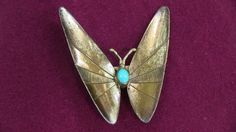 """South West Butterfly Brooch. Excellent condition. Measures about 1.75""""x1.5"""". Some writing on the back. Shipping available.    Vendor 177, Case 180, SKU 291A $29.00 USD"""