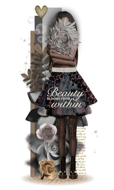 """Beauty Blooms from within"" by tracireuer ❤ liked on Polyvore featuring art"