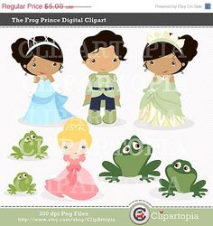 El Principe Sapo Digital Clipart para uso Personal por ClipArtopia, $2.75