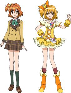 Day 10: Best School Uniform: Cure Pine (Inori). I like the green in the uniform. X3