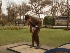 Mr Bean - Crazy Golf   Mr. Bean likes to get plenty of exercise . . Not convinced ? ..  Made a *Special Playlist*  of Favourite Active Bean  Moments ..