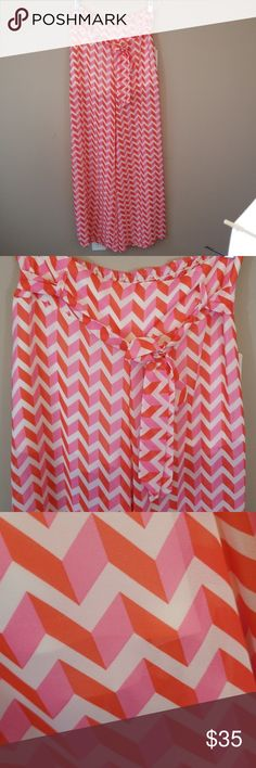 "Soulmates NWT wide leg summer pants  sz M Waist measure 15"" Length 44"" Inseam 32.5"" Soulmates NWT sz M   New with tags soul mate wide leg summer pants fully lined underneath underwear wont show 😊  Ties at the waist beautiful colors of Orange and light pink and white.  🍹Thank you for visiting my closet I carry many sizes and styles most NWT⛱ Soulmates Pants Wide Leg"