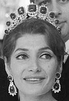 Tiara Mania: Nine Emeralds Tiara worn by Princess Shahnaz of Iran