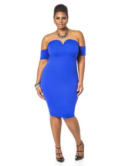 Sweetheart Neck Off the Shoulder Midi Dress - LOVE THIS COLOR!