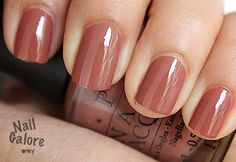 "Warm neutral color for when you need to look more professional. OPI, ""Chocolate Moose"""