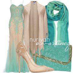 Hijab Outfit by Nuriyah O. Martinez      White chiffon dress €625-foreverunique.co.uk   Jette brown poncho €115-navabi.us   Jimmy choo pumps €665-luisaviaroma.com   Cashhimi pochette €165-bluefly.com   Mila Schön woolen shawl €99-forzieri.com