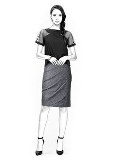4364 PDF Personalized Skirt Pattern Women Clothing von TipTopFit