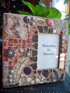 Southwestern Mosaic Frame Natural Agate Home von memoriesinmosaics, $30,00