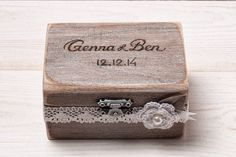 Ring Bearer Box, Wedding Ring Box, Personalized Ring Box, Rustic ...