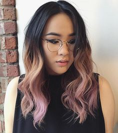 Black+To+Washed+Pink+Ombre
