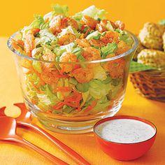 Blazing Buffalo Shrimp Salad #recipe