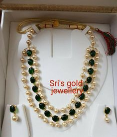 How To Clean Gold Jewelry With Vinegar Info: 2803001355 Beaded Jewelry Designs, Gold Jewellery Design, Bead Jewellery, Jewelry Patterns, Custom Jewelry, Real Pearl Necklace, Clean Gold Jewelry, India Jewelry, Pearl Chain