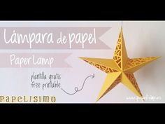 Lampara estrella de papel (Paper Star Lamp) - YouTube