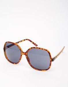 57fc65ccf7 Image 1 of ASOS Oversized 70s Sunglasses Retro Sunglasses