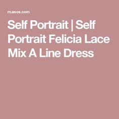 Self Portrait | Self Portrait Felicia Lace Mix A Line Dress