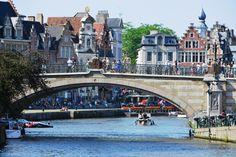 Ghent, Belgium jigsaw puzzle in Bridges puzzles on TheJigsawPuzzles.com