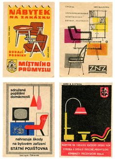 Vintage Matchbox Labels - Czechoslovakia