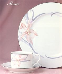 Maui : Reminiscent of the balmy breezes of a tropical paradise this artistically designed pattern - Maui - uses subtle shades and gentle flowing lines to create the essence of floral beauty.