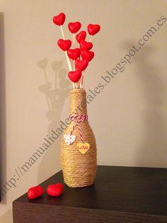 Botellas decoradas con dulces imagui mesas de postres - Regalos de san valentin para el ...