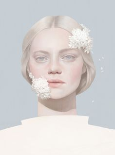 Portrait Illustration Ethereal, digitally-illustrated portrait by Hsiao-Ron Cheng. - This self-initiated, ongoing series of ethereal, digitally-illustrated portraits is so beautiful we just had to share it with you. Digital Portrait, Digital Art, Portrait Art, Penguin Modern Classics, Miss Moss, Portrait Illustration, Fantasy Illustration, Digital Illustration, Cool Art
