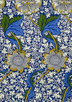 """""""Kennet"""" wallpaper by William Morris, 1883, for Morris & Co."""