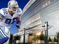 The Dallas Cowboys and their beautiful, new stadium in Arlington, TX.