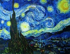 Poster 'Notte stellata, 1889 circa', per Vincent van Gogh, Dimensione: 91 x 61 cm Poster Revolution http://www.amazon.it/dp/B000VQUQIE/ref=cm_sw_r_pi_dp_jLwhub0K0VX3W