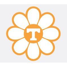 UNIVERSITY OF TENNESSEE VOLUNTEERS POWER T FLOWER vinyl decal car truck UT Sticker