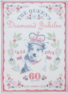 Diamond Jubilee Tea Towel by Cath Kidston    Would love to celebraate with her majesty
