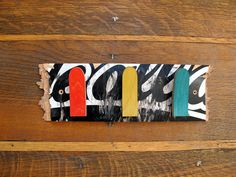 Coat rack from recycled skateboard by SkateMood on Etsy