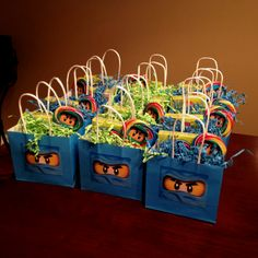 Lego Ninjago Party Bags for Mason's Birthday