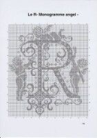 Gallery.ru / Фото #19 - Monogrammes Angels - Afortyna Crochet Cross, Filet Crochet, Cross Stitch Heart, Xmas Gifts, Needlepoint, Needlework, Alphabet, Crochet Patterns, Chart