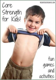Here are fun ways to improve core strength through play and to improve fine and gross motor skills along the way! Gross Motor Activities, Movement Activities, Gross Motor Skills, Sensory Activities, Therapy Activities, Physical Activities, Activities For Kids, Sensory Rooms, Therapy Ideas