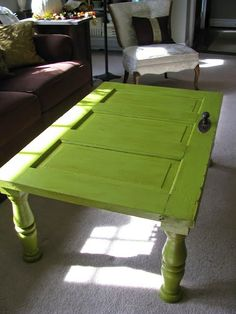 Easy DIY repurposed door table