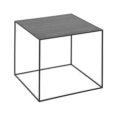 Twin 42 table, cool grey # black-stained ash