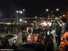"""""""4th of July?""""  """"Fireworks on the #FDRDrive in #NYC, but no Grucci Fireworks""""  """"Ahhh, #Ferguson #Riots in NYC"""""""