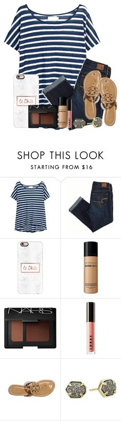 """""""you don't feel pretty, you just feel used."""" by ellaswiftie13 ❤ liked on Polyvore featuring Velvet, American Eagle Outfitters, Casetify, Bare Escentuals, NARS Cosmetics, LORAC, Tory Burch and Kendra Scott"""