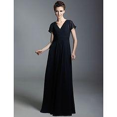 Chiffon Sheath/Column V-neck Floor-length Evening Dress inspired by Taylor Swift – USD $ 129.99