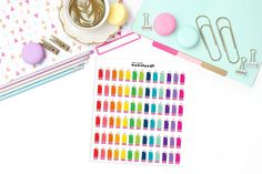 COLORED PENCILS Paper Planner Stickers!