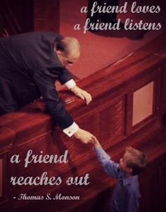 Did you see Pres Monson exit after conference today? Very sweet!