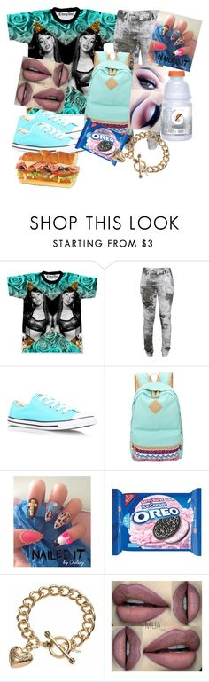 """Aaliyah"" by teenratedvonnie ❤ liked on Polyvore featuring Denham, Converse and Juicy Couture"