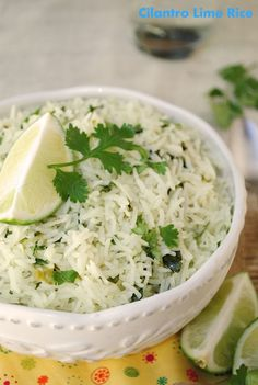Chipotle style cilantro lime rice ~ simple yet bold flavors and ridiculously easy to put together. I LOVE their rice sooo making this! Easy Rice Recipes, Side Dish Recipes, Mexican Food Recipes, Great Recipes, Favorite Recipes, Healthy Recipes, Vegetarian Mexican, Yummy Recipes, Chicken