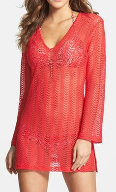 Pretty crochet cover up in red http://rstyle.me/n/fjrcznyg6