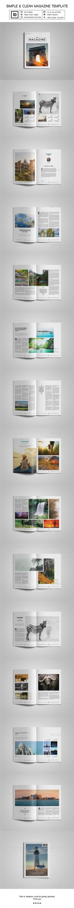 Simple & Clean Magazine Template V — InDesign Template #creative magazine #indesign template • Download ➝ https://graphicriver.net/item/simple-clean-magazine-template-v/18029946?ref=pxcr